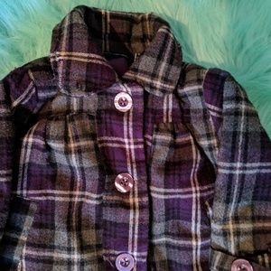 Calvin Klein Jackets & Coats - 🍼Baby Girl CK Plaid Peacoat